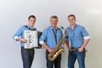 Als Trio: Karl-Heinz mit seinen söhnen Tobias und Jonas